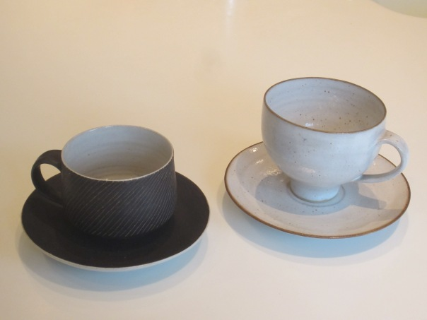 Lucie Rie cups and saucers (mrscarmichael)