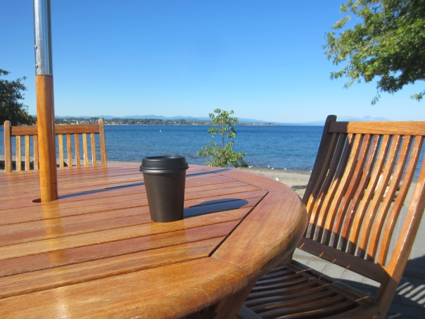 long black on the shores of Lake Taupo (mrscarmichael)