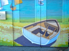 Lake Taupo shed paint (mrscarmichael)