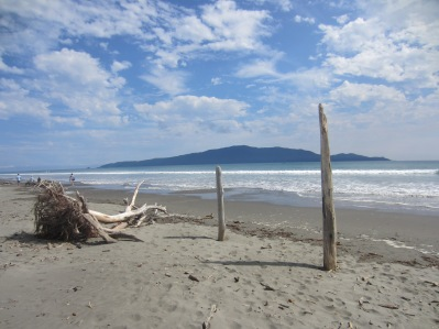 pale perfection, Kapiti Island from Waikanae Beach (mrscarmichael)
