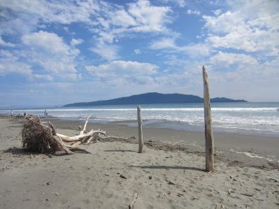 pale perfection, Kapiti Island from Waikanae Beach (mrscarmichael)