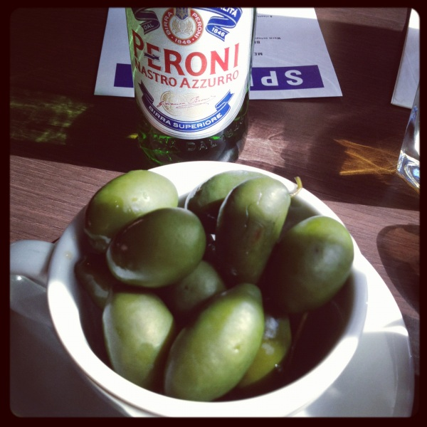 green olives and peroni (mrscarmichael)