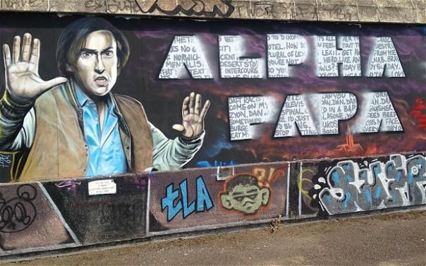 Mr P graffitied (www.telegraph.co.uk)