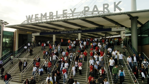 here is the station we walked to (www.wembleystadium.com)