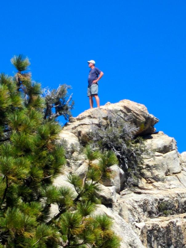 (Not) Mr Carmichael up a VERY high rock (mrscarmichael)