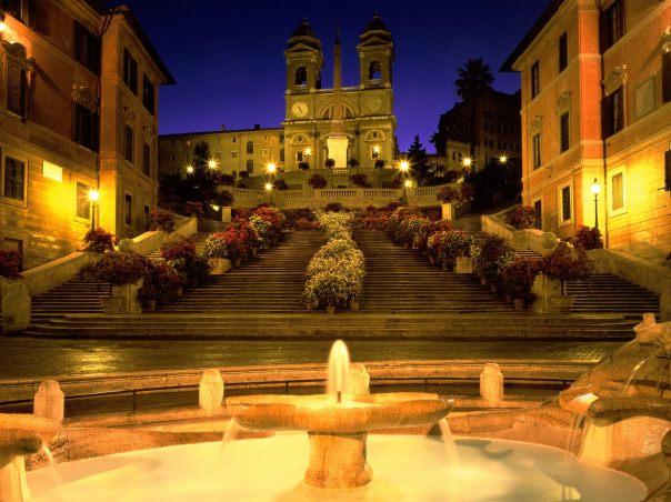 Spanish Steps on a good night (flickr)